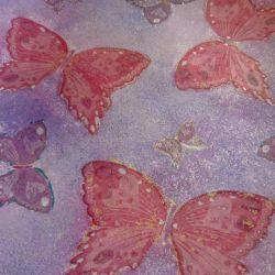 Plate decoupage Butterflies