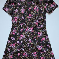 Vintage dress of thick material