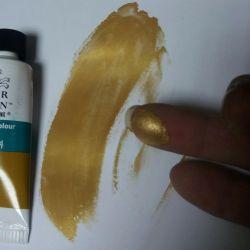 Acrylic paint (gold)
