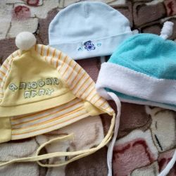 Caps on the newborn 0-3 months.