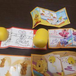 Киндер игрушки пакетом