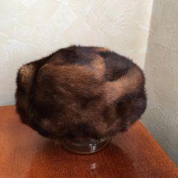 Mink hood used (emitting) size 57-58