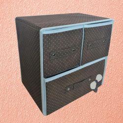 Складной мини комод с 3 ящиками, 29х20х28 см