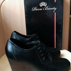 Shoes 35 rn Nat. leather