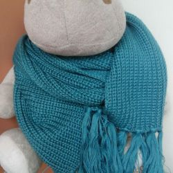 New blue-green scarf