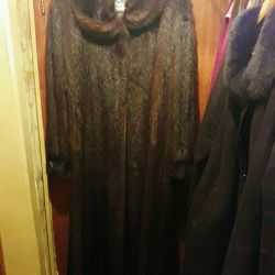 Natural Marmot Fur Coat