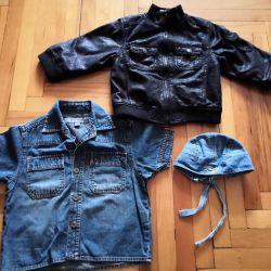 Ceket / Kot. gömlek / bandana 1.5-3 yıl