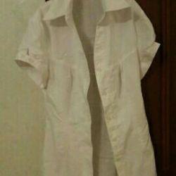 Удлиненная рубаха-блуза