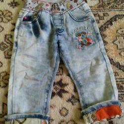 Летние джинсы на девочку 1год.