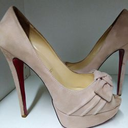 Louboutins, natural suede