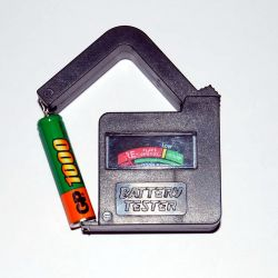 Тестер(mini) для проверки аккумуляторов и батареек