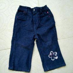 Corduroy trousers 80 cm