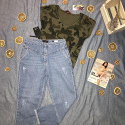 Новые женские джинсы LIME и футболка