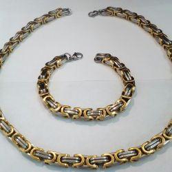 Chain bracelet male of medical steel