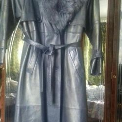 Genuine leather coat.