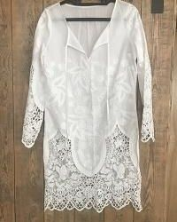 Cotton tunic with lace
