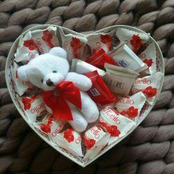 Конфеты рафаэлло в подарок любимой сердце