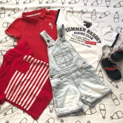 Summer clothes set for the boy