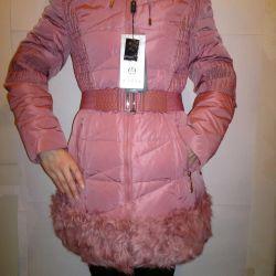 Down jacket M 46 r Natural fur