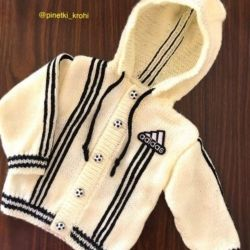Knitted new tracksuit adidas for 3-6 months