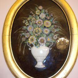 ανασκαφικά-πορσελάνινες λουλούδια σε ένα βάζο