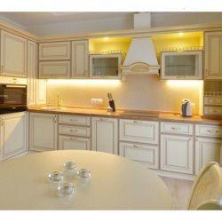 Kitchen White with Lights