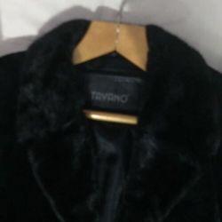 Fur coat with mink