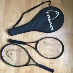 Rachete pentru tenis -2pcs + carcasă