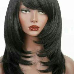 A new black wig. Kanekalon. The highest quality.