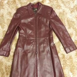 Cloak of genuine leather