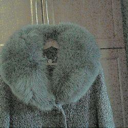 Arctic fox fur collar and cuffs (new)