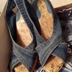 Sandals denim. 37 size