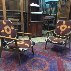 Vintage designer chairs in oriental style