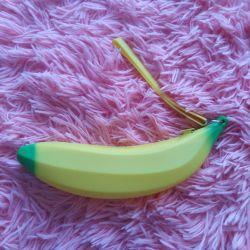 Θήκη, καλλυντική τσάντα selikonovy μπανάνα