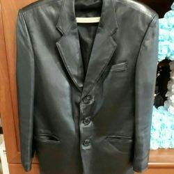 Пиджак кожаный 46-48 раз