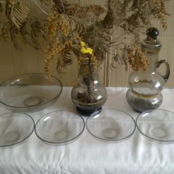 Set (vase, jug, salad bowl, sockets)