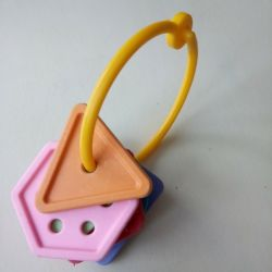 Children's toys in the form of geometric shapes.