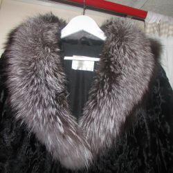 Astrakhan fur coat