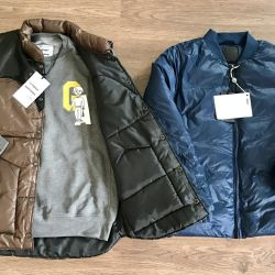 New down jacket David Naman and vest Unkle