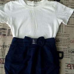 Skirt with a t-shirt for girls