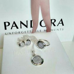 Ring, earrings, pendant Pandora