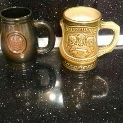 Beer ceramic mugs for each