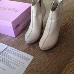 Boots demi-season r 33 nat leather, condition exc