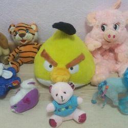 Мягкие игрушки 7шт.