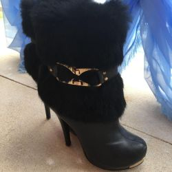 Winter boots with fur 36-37 size