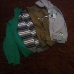 Τζέρσεϋ, μπλούζα, μπλούζα, φούτερ p 122-140