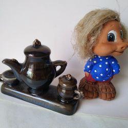 figurine Service miniature.ZIK