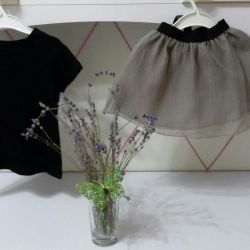 Luscious tulle skirt with t-shirt (new)