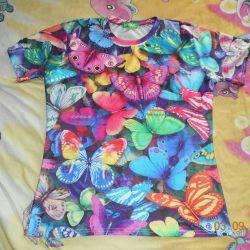 Μπλουζάκι για γυναίκες με πεταλούδες