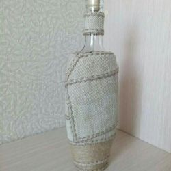 Декорированная бутылка под коньяк